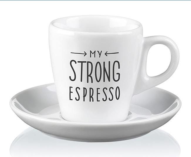 Strong Espresso Set Of Mugs
