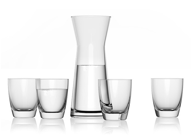 Roselle Set Of Glasses With Caraf
